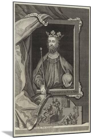 Portrait of Edward II of England--Mounted Giclee Print