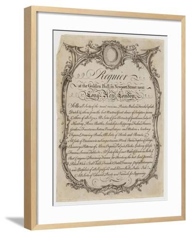 Printseller, Regnier, Trade Card--Framed Art Print