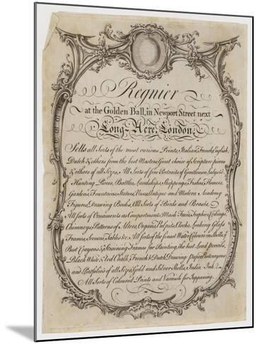 Printseller, Regnier, Trade Card--Mounted Giclee Print
