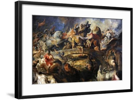 Battle of the Amazons, 1616-1618-Peter Paul Rubens-Framed Art Print