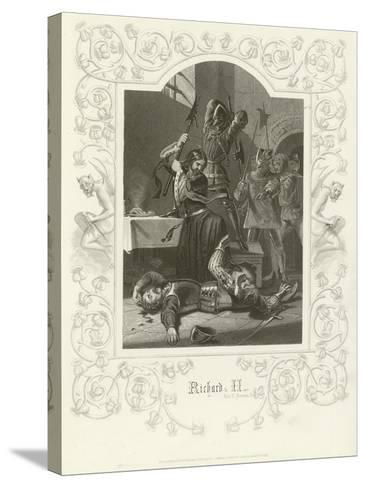 Richard II, Act V, Scene V-Joseph Kenny Meadows-Stretched Canvas Print