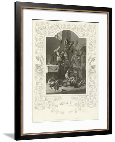 Richard II, Act V, Scene V-Joseph Kenny Meadows-Framed Art Print