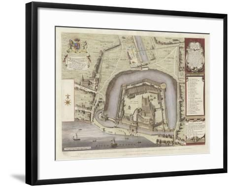 A True and Exact Draught of the Tower Liberties--Framed Art Print