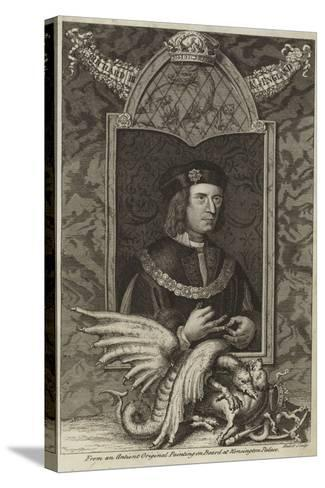 Portrait of Richard III of England--Stretched Canvas Print