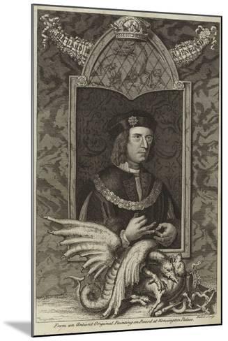 Portrait of Richard III of England--Mounted Giclee Print