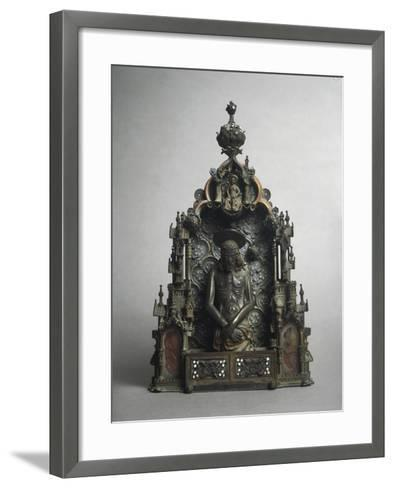 Enamelled Silver Liturgical Object Called Pace--Framed Art Print