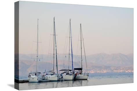 Kassiopi Harbour, Corfu, Greece--Stretched Canvas Print