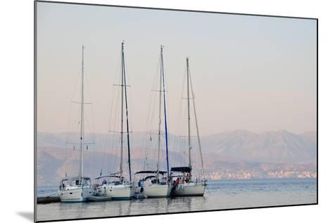 Kassiopi Harbour, Corfu, Greece--Mounted Photographic Print