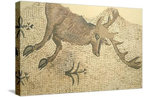 Floor Mosaic Depicting Deer, from Oderzo--Stretched Canvas Print