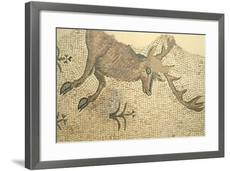 Floor Mosaic Depicting Deer, from Oderzo--Framed Art Print