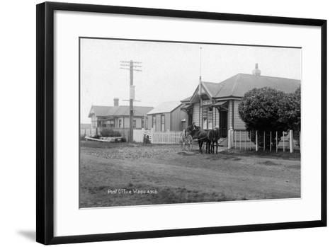 Waipu Police Station and Post Office, C.1910--Framed Art Print