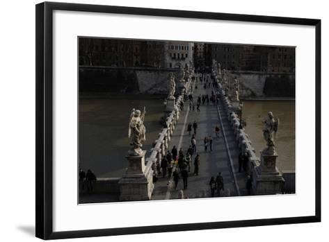 Italy. Rome. Saint Angelo Bridge--Framed Art Print