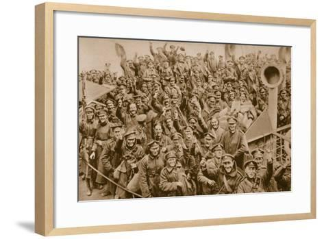 Hailing 'Home' with Smiles and Cheers--Framed Art Print