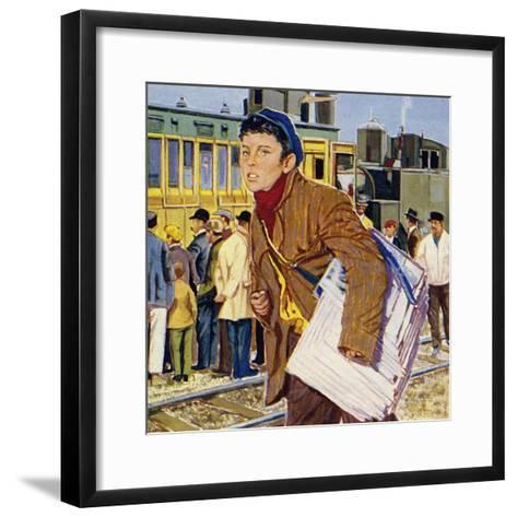 Fred Royce Sold Newspapers at the Age of Nine--Framed Art Print