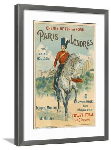Paris to London--Framed Art Print