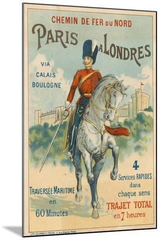 Paris to London--Mounted Giclee Print