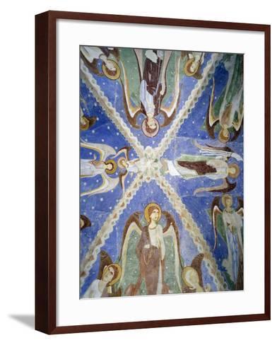 Frescoed Stone Cross--Framed Art Print