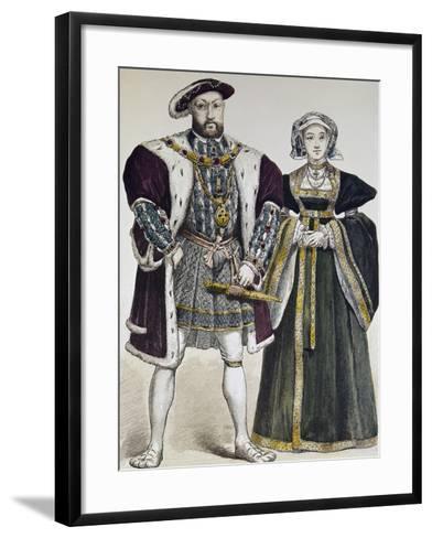 Portrait of Henry VIII of England--Framed Art Print