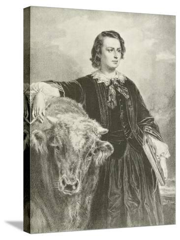 Rosa Bonheur, French Artist-Edouard Louis Dubufe-Stretched Canvas Print