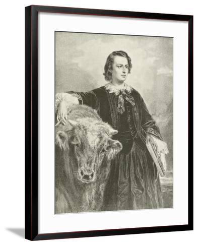 Rosa Bonheur, French Artist-Edouard Louis Dubufe-Framed Art Print