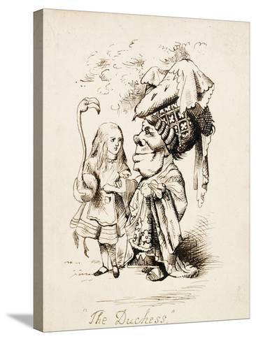 The Duchess, C.1865-John Tenniel-Stretched Canvas Print