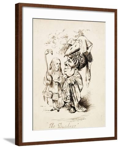 The Duchess, C.1865-John Tenniel-Framed Art Print