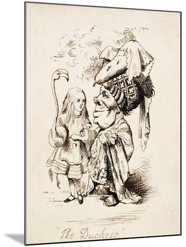 The Duchess, C.1865-John Tenniel-Mounted Giclee Print