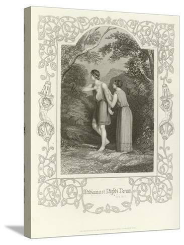 A Midsummer Night's Dream, Act II, Scene II-Joseph Kenny Meadows-Stretched Canvas Print