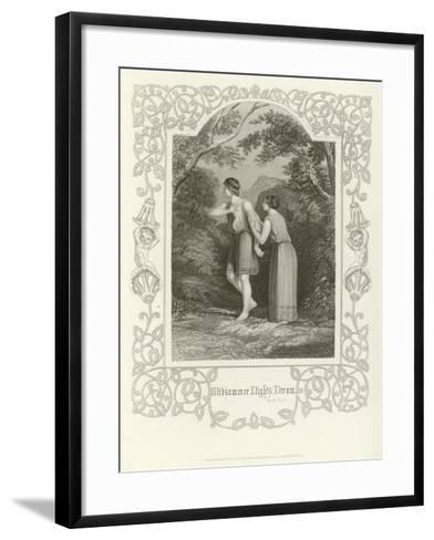 A Midsummer Night's Dream, Act II, Scene II-Joseph Kenny Meadows-Framed Art Print