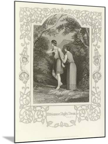 A Midsummer Night's Dream, Act II, Scene II-Joseph Kenny Meadows-Mounted Giclee Print