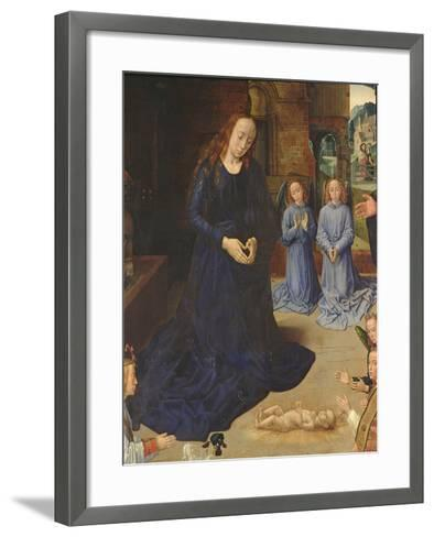 Adoration of the Shepherds-Rogier van der Weyden-Framed Art Print