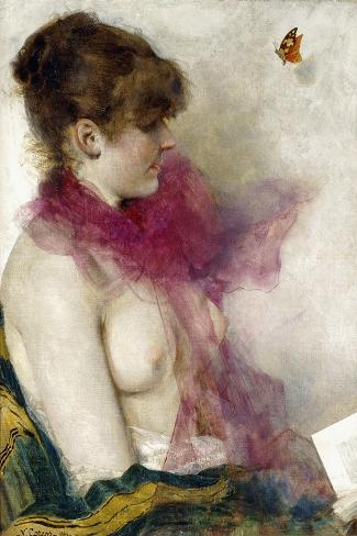 The Silk Scarf-Vittorio Matteo Corcos-Stretched Canvas Print