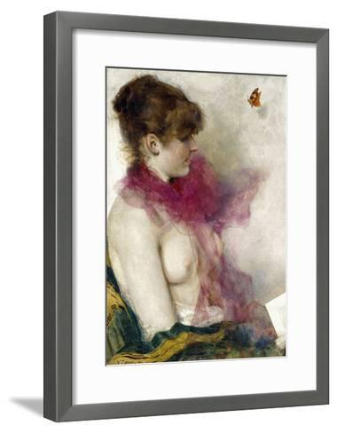 The Silk Scarf-Vittorio Matteo Corcos-Framed Art Print