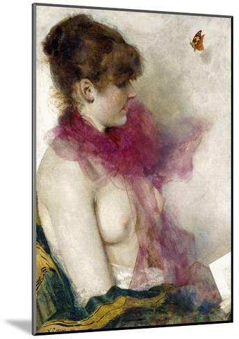 The Silk Scarf-Vittorio Matteo Corcos-Mounted Giclee Print