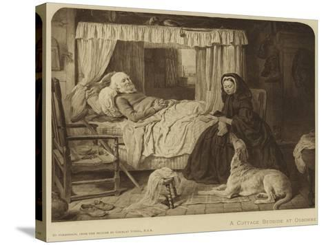 Queen Victoria at a Cottage Bedside at Osborne--Stretched Canvas Print