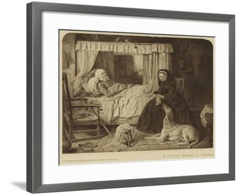 Queen Victoria at a Cottage Bedside at Osborne--Framed Art Print