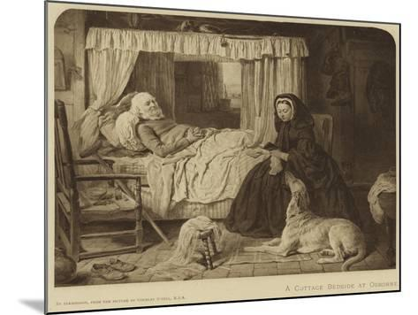 Queen Victoria at a Cottage Bedside at Osborne--Mounted Giclee Print
