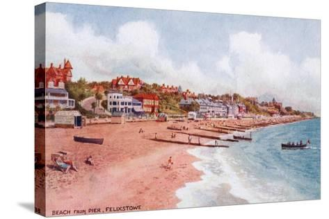 Beach from Pier, Felixstowe-Alfred Robert Quinton-Stretched Canvas Print