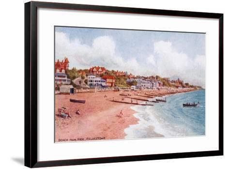 Beach from Pier, Felixstowe-Alfred Robert Quinton-Framed Art Print