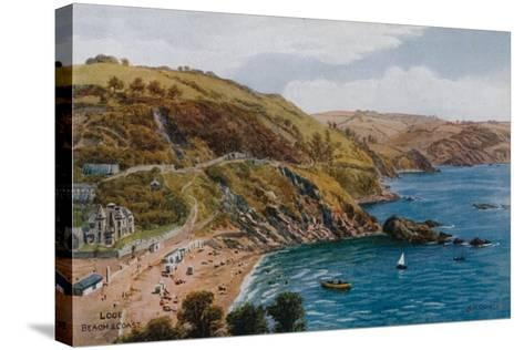 Looe, Beach and Coast-Alfred Robert Quinton-Stretched Canvas Print