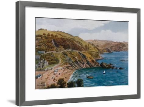 Looe, Beach and Coast-Alfred Robert Quinton-Framed Art Print