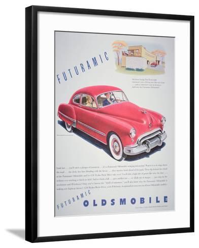 Advertisement for the Oldsmobile Futurmatic, 1948--Framed Art Print