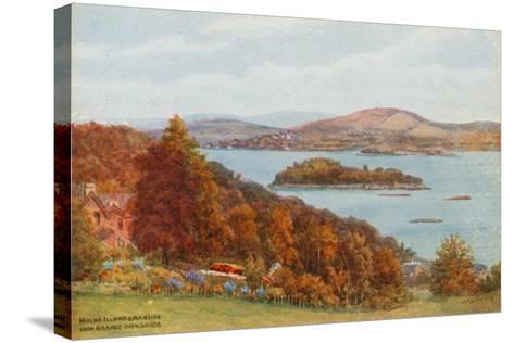 Holme Island and Arnside, from Grange-Over-Sands-Alfred Robert Quinton-Stretched Canvas Print