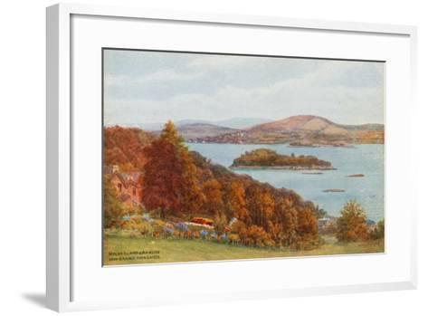 Holme Island and Arnside, from Grange-Over-Sands-Alfred Robert Quinton-Framed Art Print
