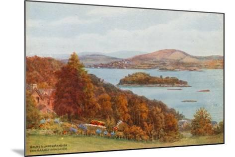 Holme Island and Arnside, from Grange-Over-Sands-Alfred Robert Quinton-Mounted Giclee Print