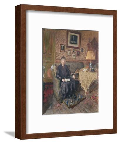Madame Adrien Benard-Edouard Vuillard-Framed Art Print