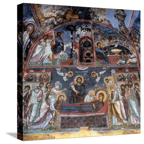 Entry into Jerusalem, Last Supper and Dormition--Stretched Canvas Print