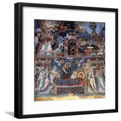 Entry into Jerusalem, Last Supper and Dormition--Framed Art Print