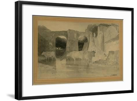 Bridge and Cows, C.1803-04-John Sell Cotman-Framed Art Print