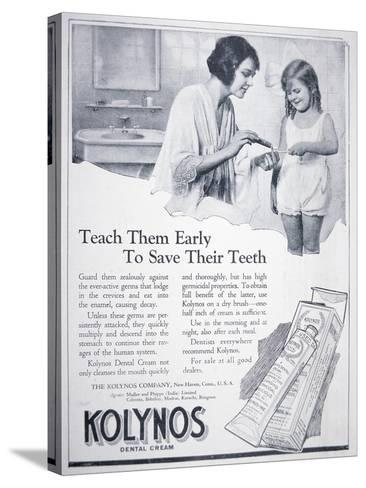 Advert for Kolynos Dental Cream, 1922--Stretched Canvas Print